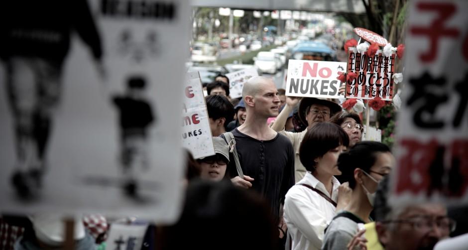 Michael Stone Anti-Nuclear Rally Tokyo