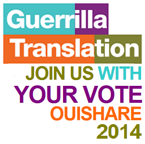Click here to vote for us at the 2014 Ouishare Awards